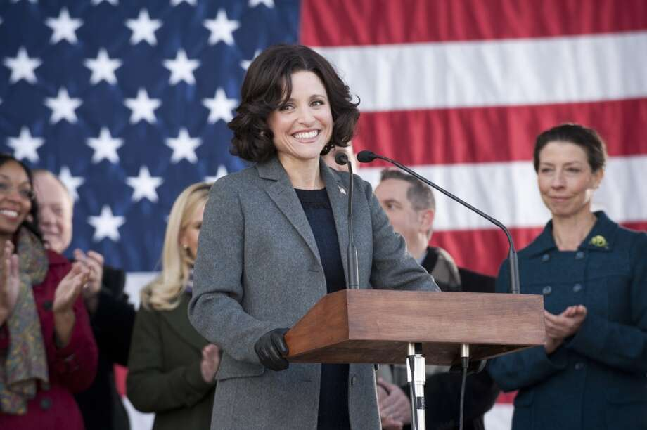 Julia Louis-Dreyfus won the lead actress in a comedy Emmy last year for her role as Selina Meyer in `Veep.' She goes for the repeat Sunday. She won the same award for `The New Adventures of Old Christine' in 2006. Photo: Lacey Terrell, Associated Press