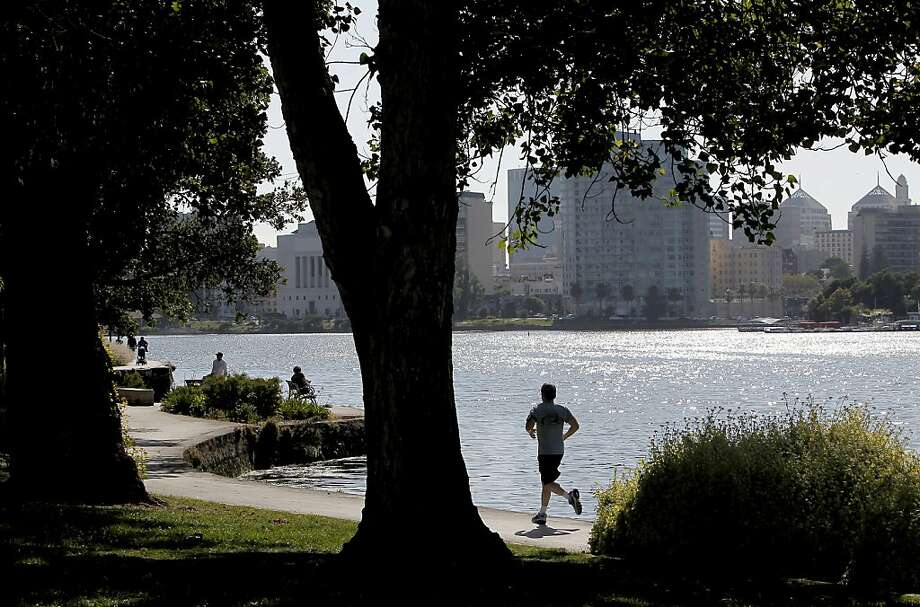 Named for an early mayor, popular Lake Merritt was the first official wildlife refuge in the United States. Photo: Michael Macor, The Chronicle