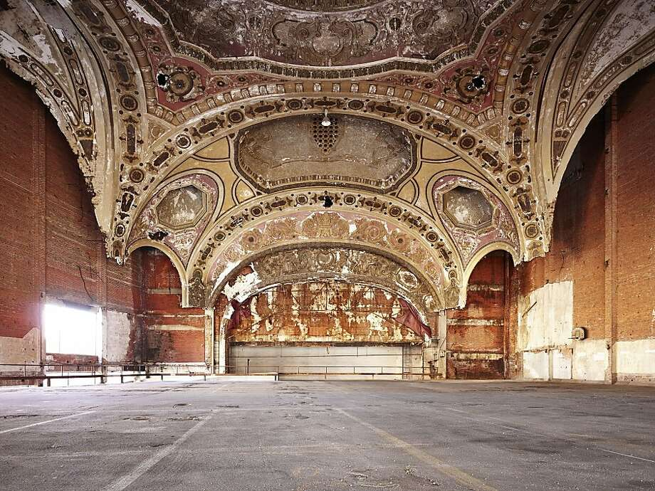"Philip Jarmain marvelously examines Detroit's ruined pre-Depression architecture in ""Michigan Theatre Architects: Rapp and Rapp, 1926"" (2013), an archival pigment Ultra Chrome print. Photo: Philip Jarmain"