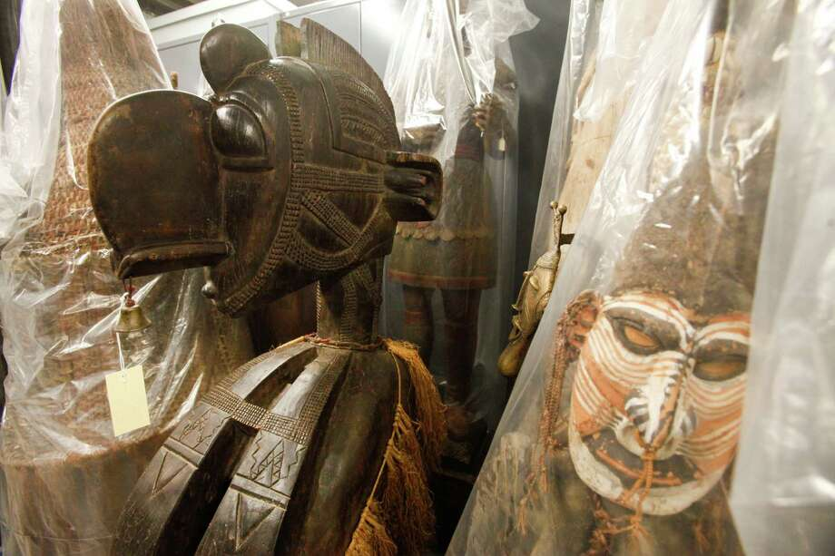 An African fertility mask stored at the Museum of Natural Science's Marconi street warehouse, which will allow visitors, for a price, to tour same, Sept. 19, 2013 in Houston. Photo: Eric Kayne, For The Chronicle / ©Eric Kayne 2013