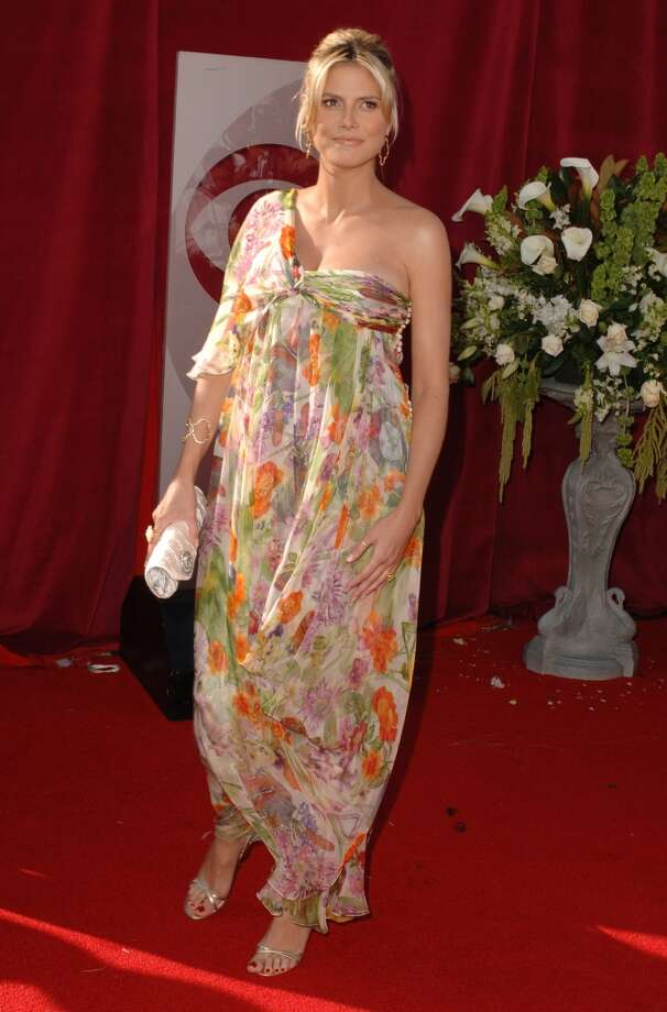 Hit and Miss:Heidi Klum, 2005. Klum's shapeless Christian Dior dress would normally be a miss for her — if she hadn't given birth a few days earlier. Dang girl! Photo: SGranitz, WireImage