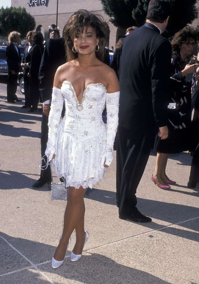Miss: Paula Abdul, 1989. The ill-fitting plunge and long fingerless gloves really sum up this terrible era in fashion. Photo: Ron Galella, Ltd., WireImage
