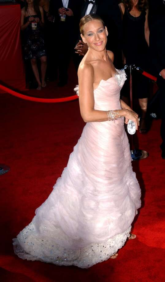 Hit:Sarah Jessica Parker, 2003. SJP looks ethereal in this sophisticated Chanel beauty. Photo: Albert L. Ortega, WireImage