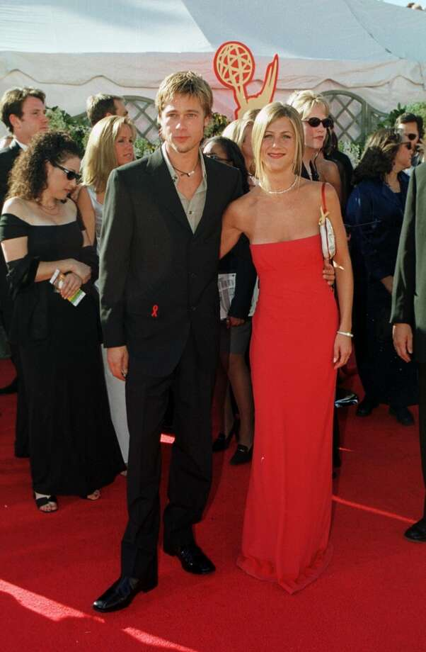 Hit:Jennifer Aniston, 2000. Aniston followed up her fashion don't with this sleek red dress and simple hair. Photo: Steve W. Grayson, Getty Images