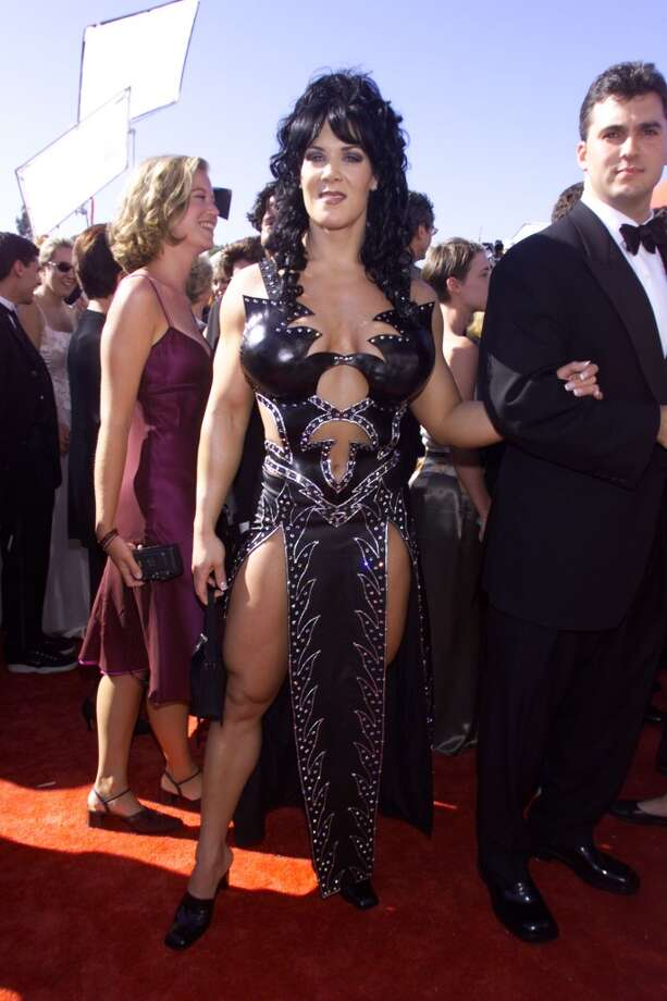 """Miss:Joanne """"Chyna"""" Laurer, 1999. The former WWE wrestler was channeling Xena the Warrior Princess with this look. Photo: Frank Micelotta, Getty Images"""