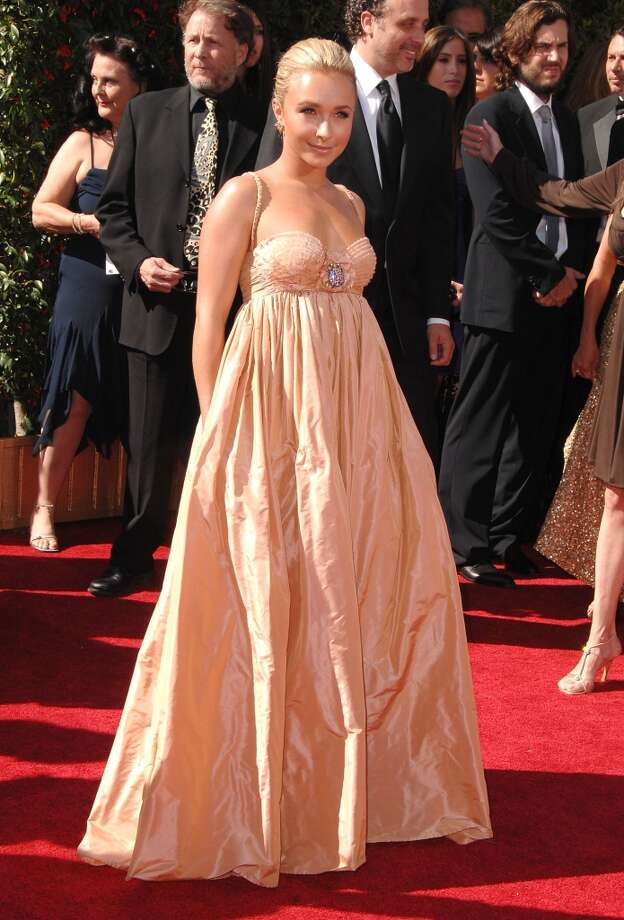 Miss: Actress Hayden Panettiere, 2007. This shapeless bubble dress completely overwhelms her tiny frame. Photo: Steve Granitz, WireImage