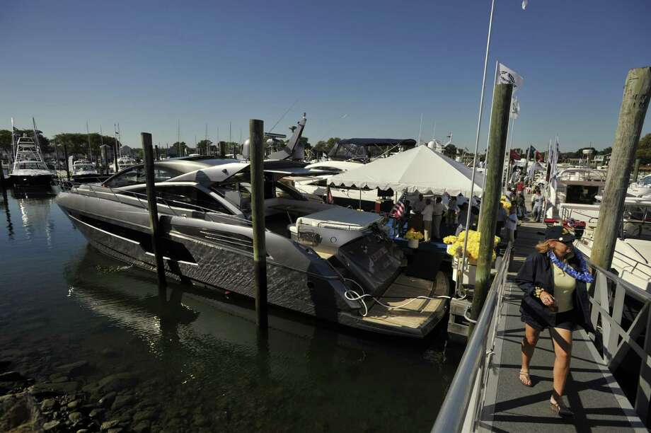 Scenes from the Norwalk Boat Show at the Norwalk Cove Marina in Norwalk, Conn., on Thursday, Sept. 19, 2013. The boat show will continue every day this week until Sunday with hours from 10 a.m.-6 p.m. Photo: Jason Rearick / Stamford Advocate