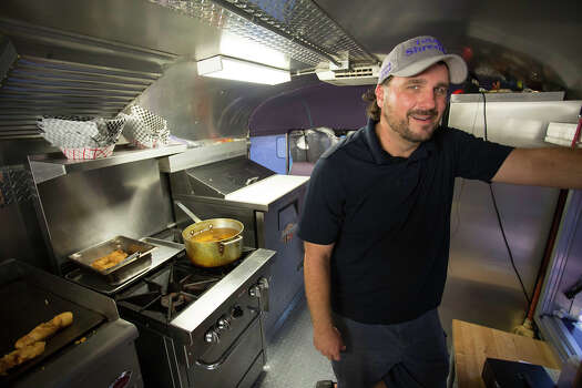 Rich Yennerell owns and operates the Totally Shredded food truck at Boardwalk on Bulverde, Friday, August 30, 2013. Photo: FOR THE EXPRESS-NEWS / THE SAN ANTONIO EXPRESS-NEWS