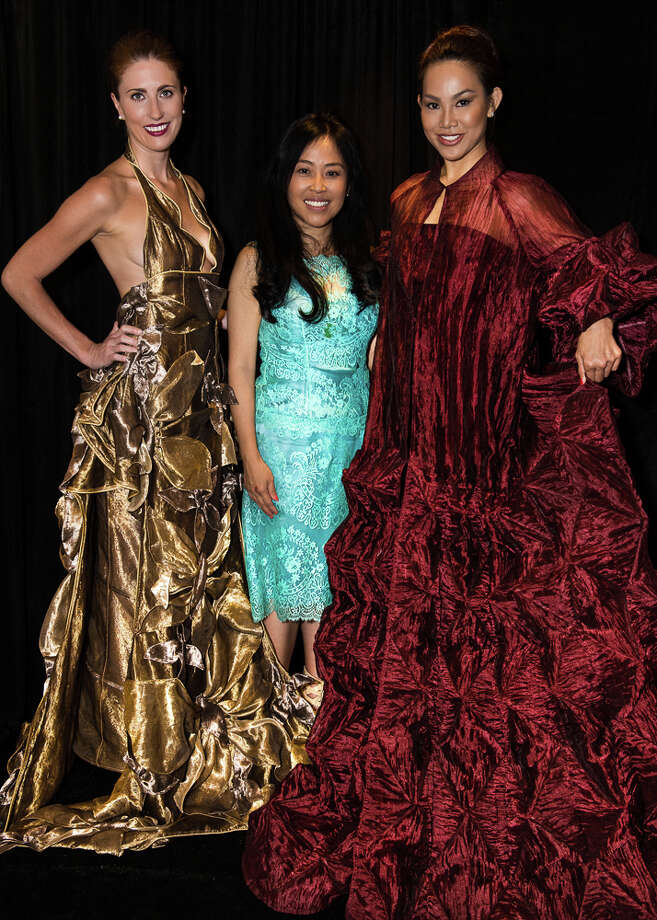Designer Colleen Quen (center) at Jessup Cellar's Dressed to the Vines. Photo: Christian Thomas, GEV Magazine / © Christian Thomas 2013