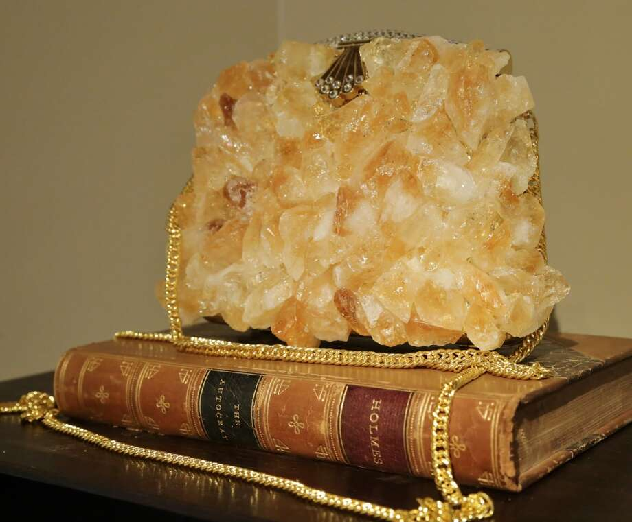 "Artist Cynthia Carey's ""Show Stopper"" clutch created with citrine quartz. Photo: William Bucquoy, Jessup Cellars"