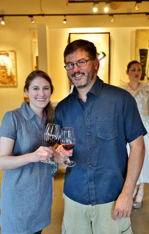 Dressed to the Vines, a celebration of style-meets Wine-Country in August, was the kick-off to an exhibition of original art created for the occasion at Yountville's Jessup Cellars. Photo: William Bucquoy, Jessup Cellars