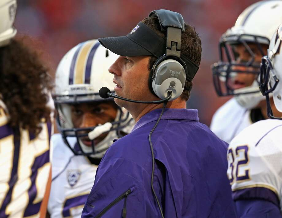 Five things to watch: Idaho State Bengals (2-0) at Washington Huskies (2-0)Saturday, Sept. 21 | 12 noon PDT | Husky Stadium, Seattle | TV: Pac-12 NetworksUnder head coach Steve Sarkisian (above), the Washington Huskies have never entered the Pac-12 season undefeated, but that should change this season. After dominating Boise State 38-6 to reopen Husky Stadium and taking care of a pesky Illinois team 34-24 in Chicago last week, the Huskies return home to host the Idaho State Bengals on Saturday.   The contest should be a cakewalk for Sarkisian's squad. The Bengals finished last season 1-10 -- last place in the FCS Big Sky Conference. They're off to a surprising 2-0 start, but those wins came against Division II foes Dixie State and Western State. Saturday should provide the Dawgs with an opportunity to clean up any miscues as well as work in a few little-used reserves.  With all that said, here's what we're looking for in Saturday's matchup. Photo: Jonathan Daniel, Getty Images
