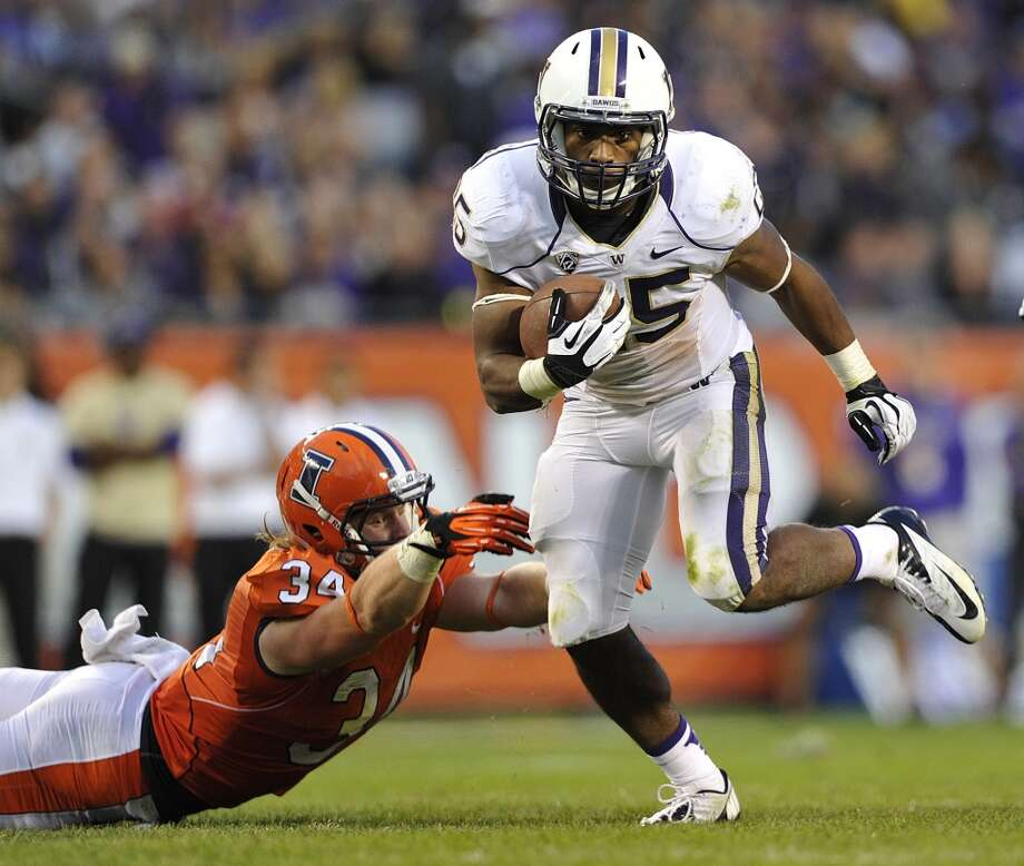 1. Can Bishop Sankey keep up his record-setting pace?Running back Bishop Sankey's early-season performance has him squarely in the conversation as one of the best running backs in college football. Through two games, he's piled up 369 rushing yards and three scores along with four catches for another 75 yards, including a 31-yard touchdown catch against Illinois. Sankey leads the nation in rushing yards per game and is creating quite a buzz among NFL scouts, many of whom believe he'll depart for the next level after this season.  Sarkisian has given Sankey a very heavy workload with 60 carries thus far, and Saturday's game might provide an opportunity to get him some much-deserved rest if the Huskies go up early. But look for Sark to give Sankey an opportunity to add to his already gaudy statistics in the first half. Photo: Jim Prisching, Associated Press