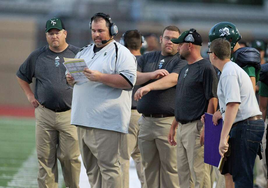 Kingwood Park's head coach Jim Holley on the sidelines during the first quarter of the Porter-Kingwood Park High School football game at Turner Stadium, Thursday, Sept. 19, 2013, in Humble. Photo: Karen Warren, Houston Chronicle / © 2013 Houston Chronicle