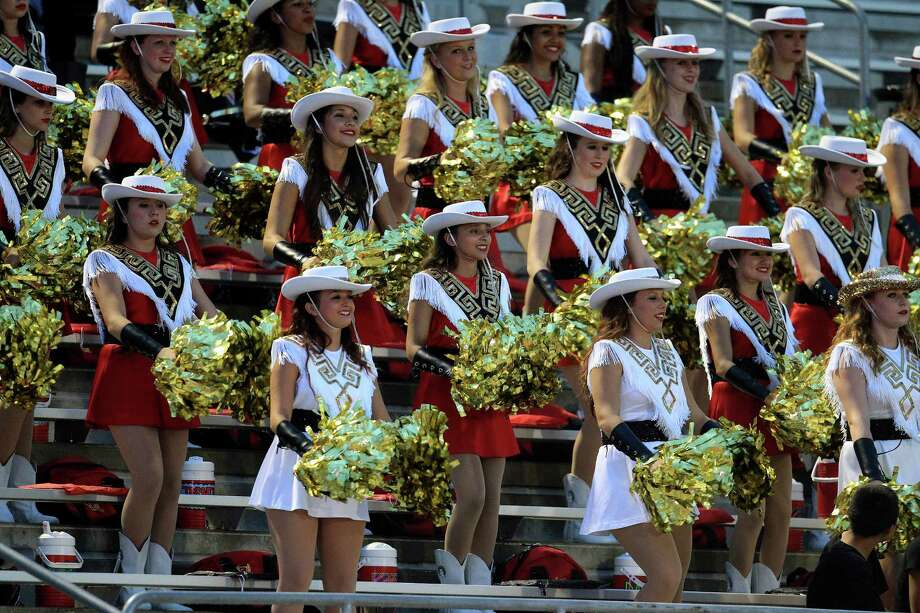 Porter High School drill team members in the stands during the first half of the Porter-Kingwood Park High School football game at Turner Stadium, Thursday, Sept. 19, 2013, in Humble. Photo: Karen Warren, Houston Chronicle / © 2013 Houston Chronicle
