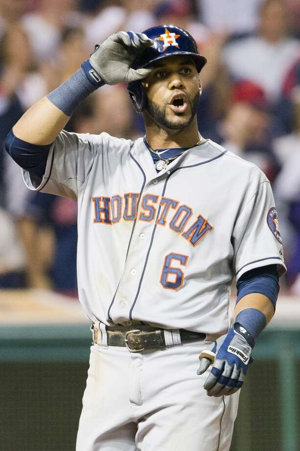 Jonathan Villar #6 of the Astros reacts after striking out looking. Photo: Jason Miller, Getty Images