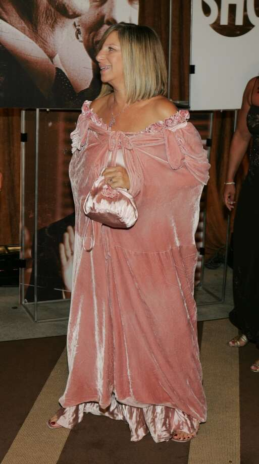 Miss: Barbra Streisand, 2004. Ill-fitting, pink velvet drapes. Photo: J. Shearer, WireImage