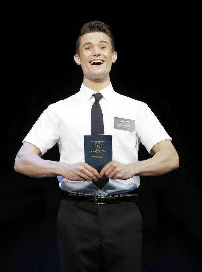 "Mark Evans plays Elder Price in ""The Book of Mormon"" playing through Sept. 29 at the Majestic Theatre. Photo: Photo Courtesy Of Joan Marcus"