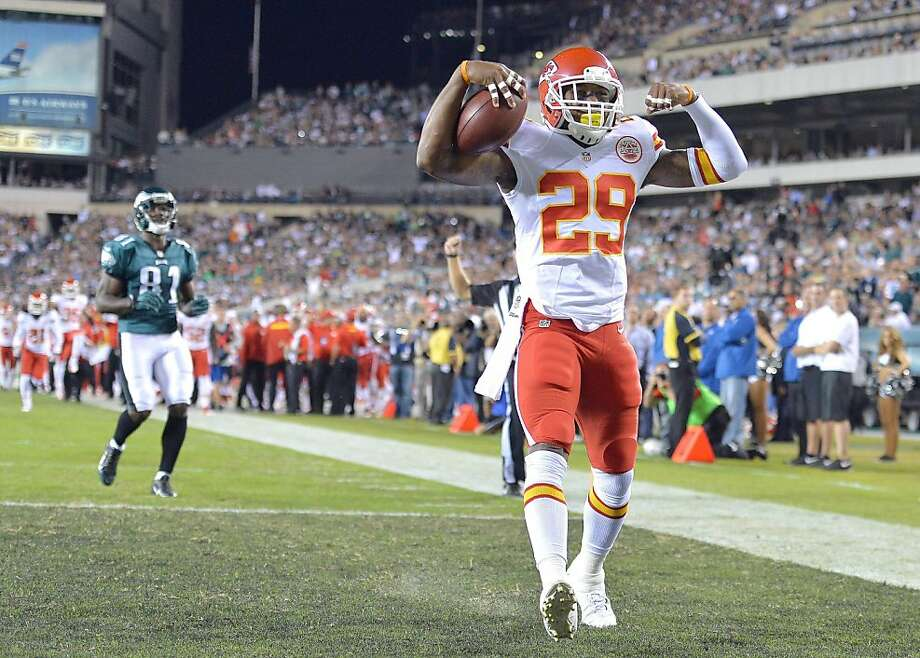 Strong safety Eric Berry's 38-yard touchdown return put Kansas City ahead 10-0 less than four minutes into the game. Photo: John Sleezer, McClatchy-Tribune News Service