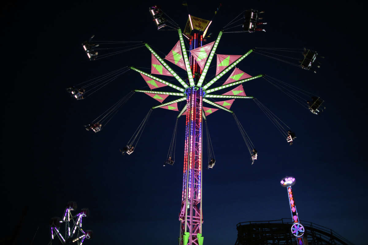 Rides are shown during the 2013 Washington State Fair in Puyallup. The Washington State Fair, formerly known as the Puyallup Fair, has drawn large crowds each day since it opened on Sept. 6. The Fair continues through Sunday, Sept. 22.