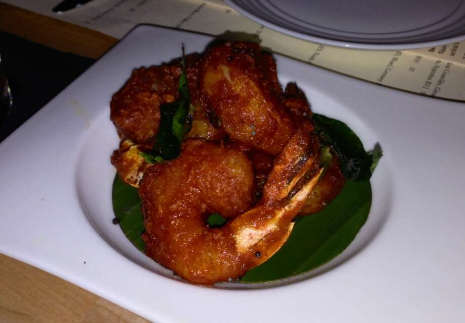 Spicy fried shrimp at Amber Dhara on Valencia