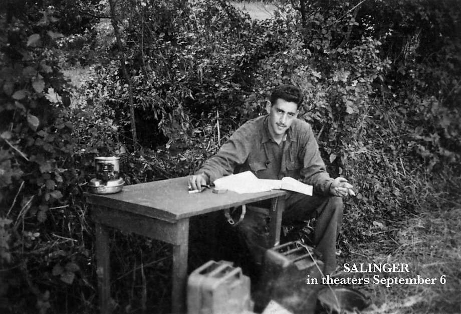 "This undated image provided by The Story Factory shows J.D. Salinger working on ""Catcher in the Rye"" during World  War II.  Photo: Paul Fitzgerald, Associated Press"