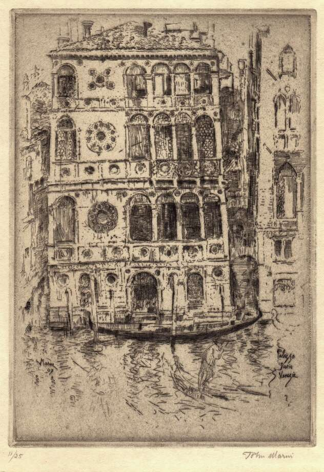 John Marin  American 1870-1953 Palazzo Dario, Venice, 1907  etching on wove paper 7 3/4 x 5 3/4 inches