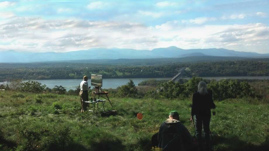 Artists en plein air on Ridge Road at Olana in Hudson. (Olana Partnership)
