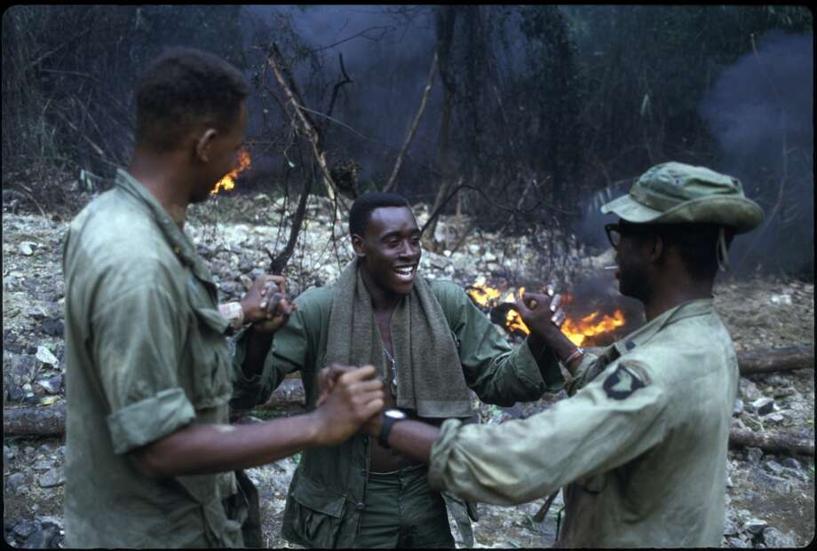 In 1987, Cheadle starred in the Vietnam War film `Hamburger Hill.' Photo: Alex Bowie, Getty Images