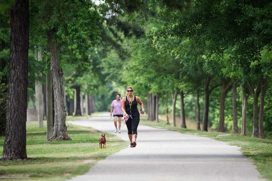 West HoustonTerry Hershey Park Hike and Bike Trail is known for its shade, scenery and gentle hills. It runs 8 miles from West Beltway 8 to Texas 6, south of Interstate 10. Water is available, and the miles are marked. Photo: Michael Paulsen, Houston Chronicle / © 2013 Houston Chronicle