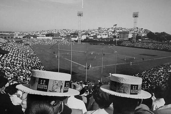 Baseball fans during opeaning game at Seals Stadium.  (Photo by Jon Brenneis//Time Life Pictures/Getty Images)
