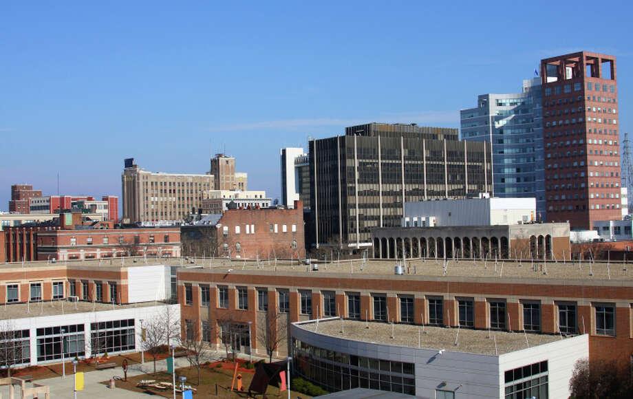 Bridgeport's 5-year rental price trend.  2008: $968 2009: $1,092 2010: $1,112 2011: $1,024 2012: $1,042 Photo: 966797, Getty Images / (c) 966797