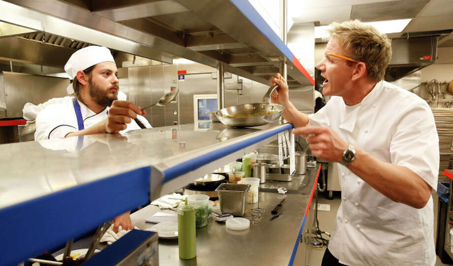 James on the line with Gordon Ramsay.