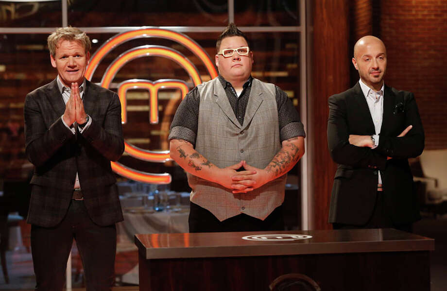 Houstonian Christine Ha, a blind graduate student at the University of Houston, faces Josh Marks, a U.S. Army Contract Specialist from Jackson, MS., in the season 3 finale of the Fox reality cooking show Masterchef. The judges are Gordon Ramsay, Joe Bastianich and Graham Elliot. The finale airs Sept. 10. Photo: Greg Gayne, Fox / handout