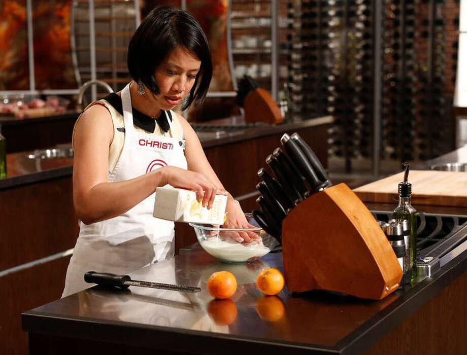 "MASTERCHEF: Contestant Christine competes in a Mystery Box Challenge during Part One of the all new ""Top 3 Compete"" season finale episode of MASTERCHEF airing Tuesday, Sept. 4 (9:00-10:00 PM ET/PT) on FOX. CR: Greg Gayne / FOX Photo: Greg Gayne, Fox / handout"