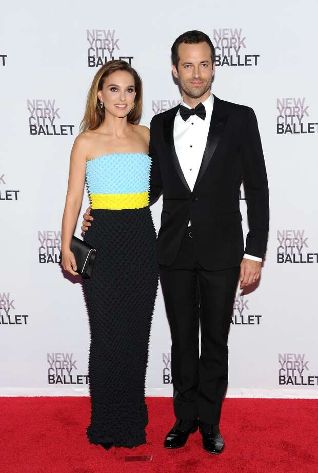 Actress Natalie Portman, left, and her husband French choreographer Benjamin Millepied attend the New York City Ballet 2013 Fall gala at Lincoln Center on Thursday, Sept. 19, 2013 in New York. (Photo by Evan Agostini/Invision/AP) Photo: Evan Agostini, Associated Press