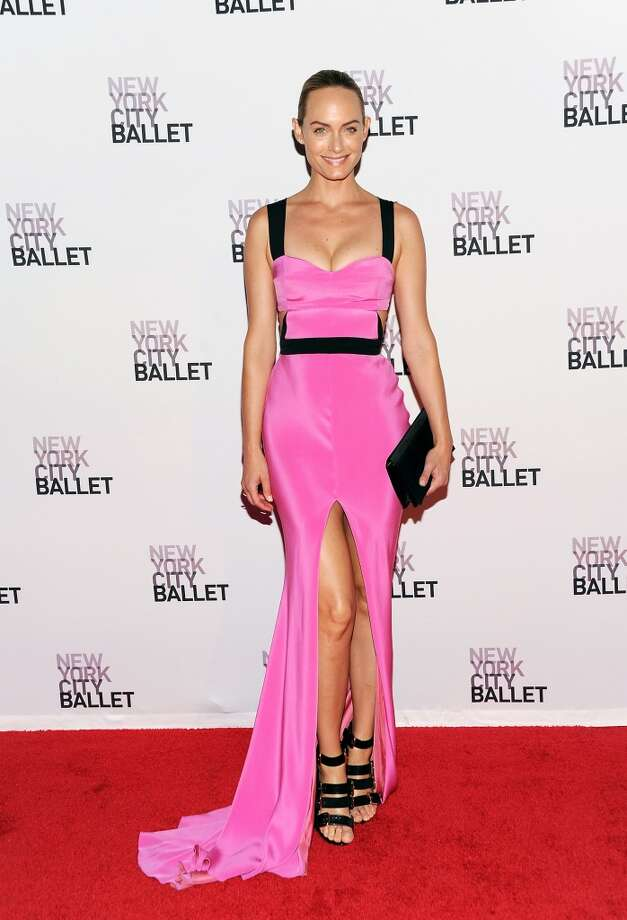 Actress Amber Valletta attends the New York City Ballet 2013 Fall gala at Lincoln Center on Thursday, Sept. 19, 2013 in New York. (Photo by Evan Agostini/Invision/AP) Photo: Evan Agostini, Associated Press