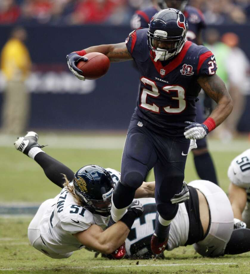 Texans running back Arian Foster against the Jaguars. Photo: Brett Coomer, Houston Chronicle