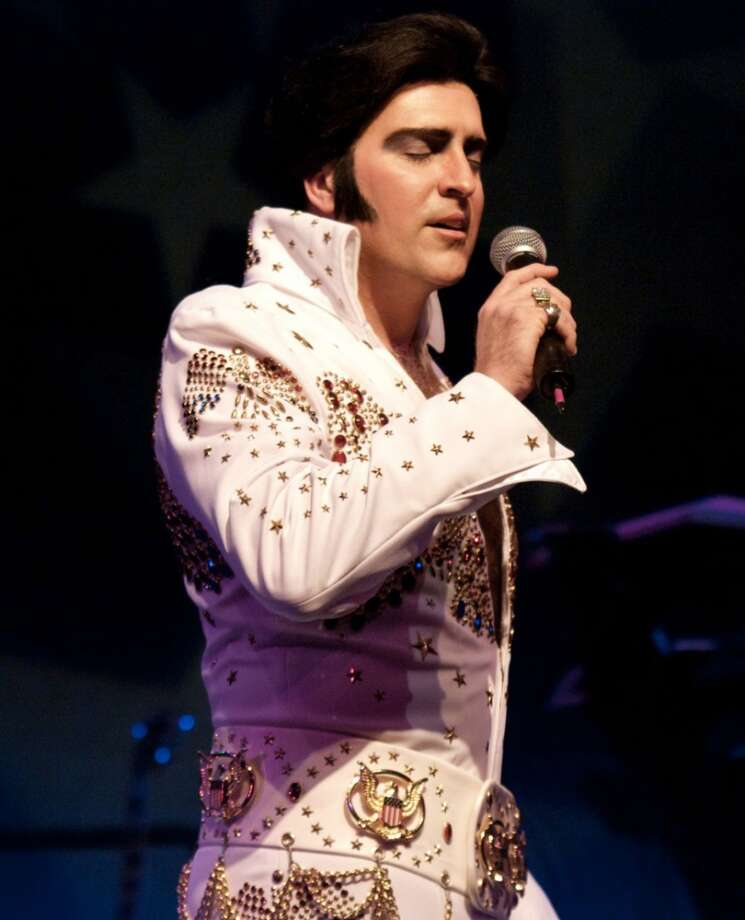 Mike Mahoney portrays Elvis when The Mahoney Brothers perform a tribute to Elvis and The Beatles as part of their Sept. 21, 2013, show at the Palace Theater in Danbury, Conn. Photo: Contributed Photo