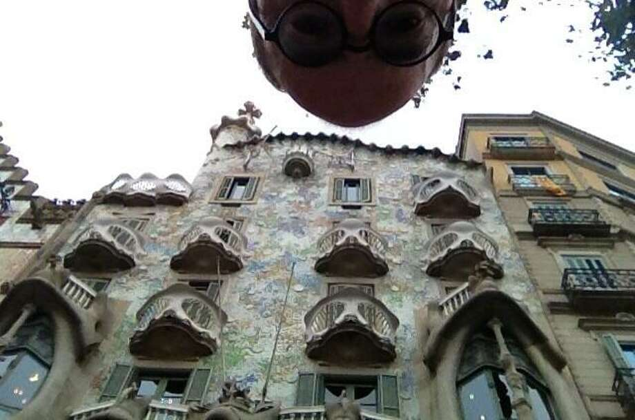 A Gaudi building in Eixample, Barcelona.