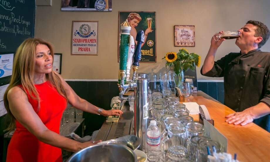 Owner Gabrielle Seckar oversees the bar at Paprika in San Francisco. Photo: John Storey, Special To The Chronicle
