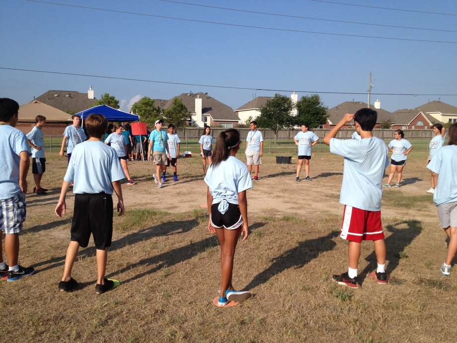 Students at Beckendorff Junior High School competed in the Eighth Grade Games. Photo: Courtesy Of Beckendorff Junior High School