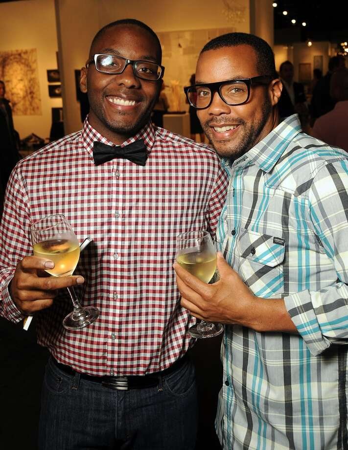 Dontay Staples and Liam Minter at the Houston Fine Arts Fair at the George R. Brown Convention Center Thursday Sept.19 2013.(Dave Rossman photo) Photo: For The Houston Chronicle
