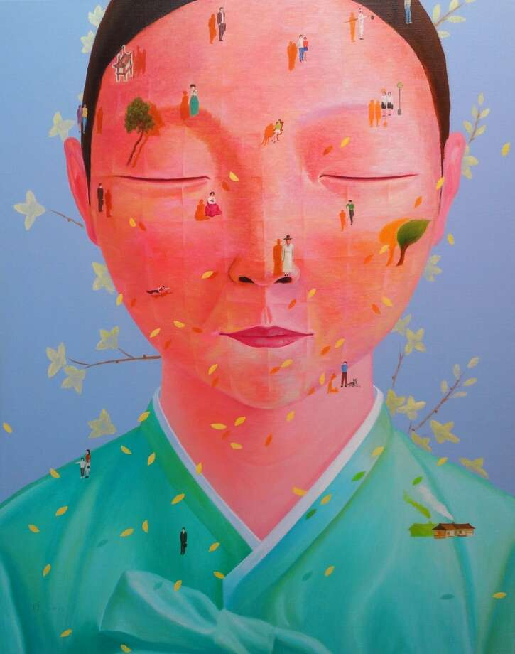"Seong-Hoon Jin is among the artists whose works are on view in the Korean art pavilion within the Houston Fine Art Fair. This painting is Jin's ""Her Memories"" (2013 ,oil on canvas, 31x39in). Photo: Seong-Hoon Jin"