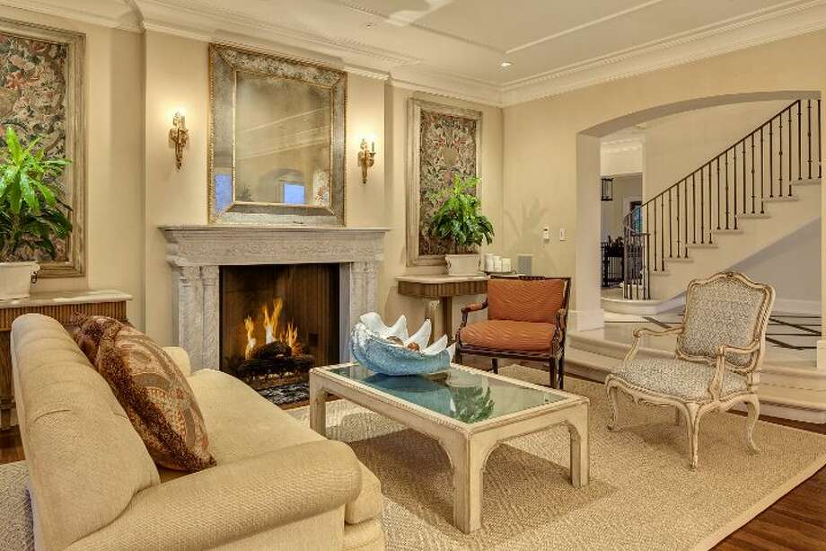 Living room of a 1933 mansion at an undisclosed address on Queen Anne hill. It's listed for $11.5 million. Photo: Courtesy Patrick Chinn, Windermere Real Estate