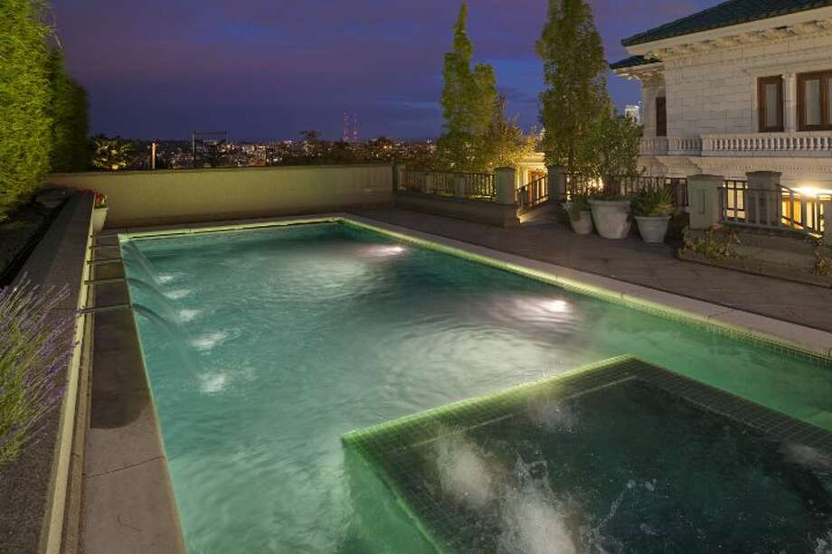 Pool of a 1933 mansion at an undisclosed address on Queen Anne hill. It's listed for $11.5 million. Photo: Courtesy Patrick Chinn, Windermere Real Estate