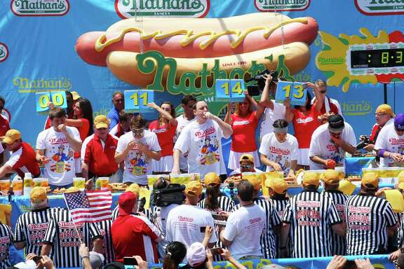 Nathan's Famous in Memorial City Mall may hold a qualifier contest for the Fourth of July Coney Island event. The restaurant is expected to open in November.