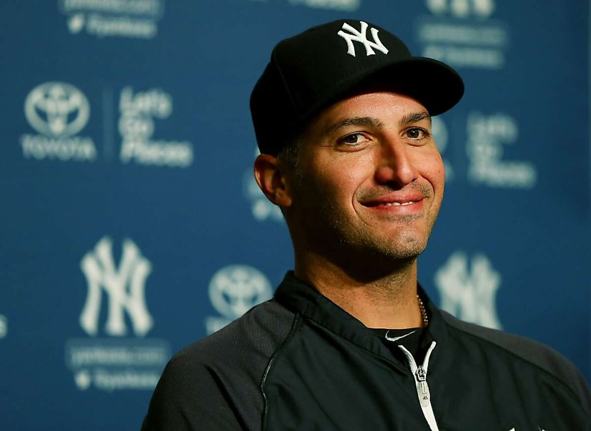 NEW YORK, NY - SEPTEMBER 20: Andy Pettitte #46 of the New York Yankees announces his retirement during a press conference before the game against the San Francisco Giants on September 20, 2013 at Yankee Stadium in the Bronx borough of New York City. Pettitte will retire at the end of the season. (Photo by Elsa/Getty Images)
