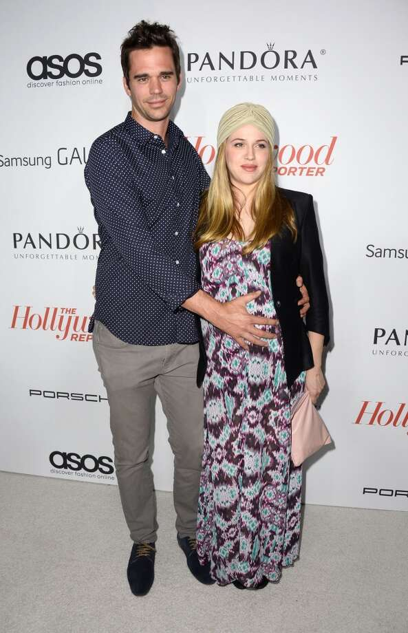 David Wilton and Majandra Delfino arrive at The Hollywood Reporter's Emmy Party at Soho House on September 19, 2013 in West Hollywood, California.  (Photo by Frazer Harrison/Getty Images) Photo: Frazer Harrison, Getty Images