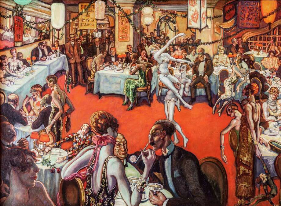 "Gyula Batthyany's oil on canvas, ""Night Bar"" from the 1920s, will be featured in ""Art as Ambassador: Hungarian Masterpieces"" at the Southport Galleries Sept. 27 through Oct. 12. Photo: Contributed Photo / Connecticut Post Contributed"